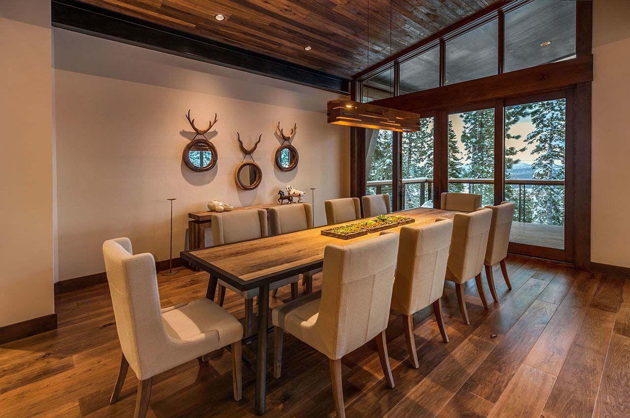 Lake Tahoe Dining Room Set Endearing Mountain Modern Ski Retreat With Breathtaking Views In Lake Tahoe Design Ideas