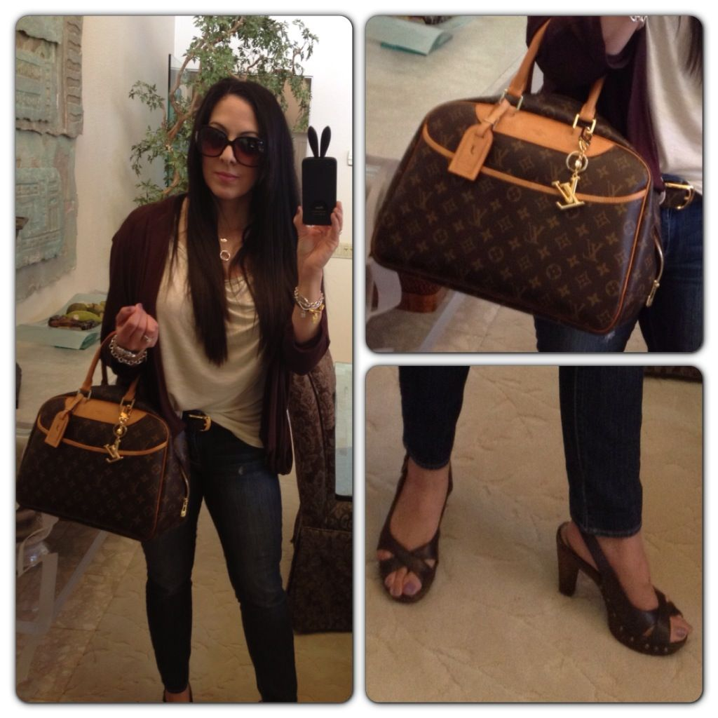 cb59718035f Articles of Society jeans and Louis Vuitton Deauville handbag   Love ...