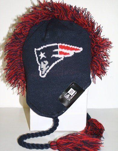 819ad9dfe59 New England Patriots New Era Tasslehawk Mohawk Knit Hat by New Era.  24.95.  Protect