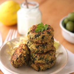 Greek Style Quinoa Patties with Tzatziki Sauce - Delicious ...