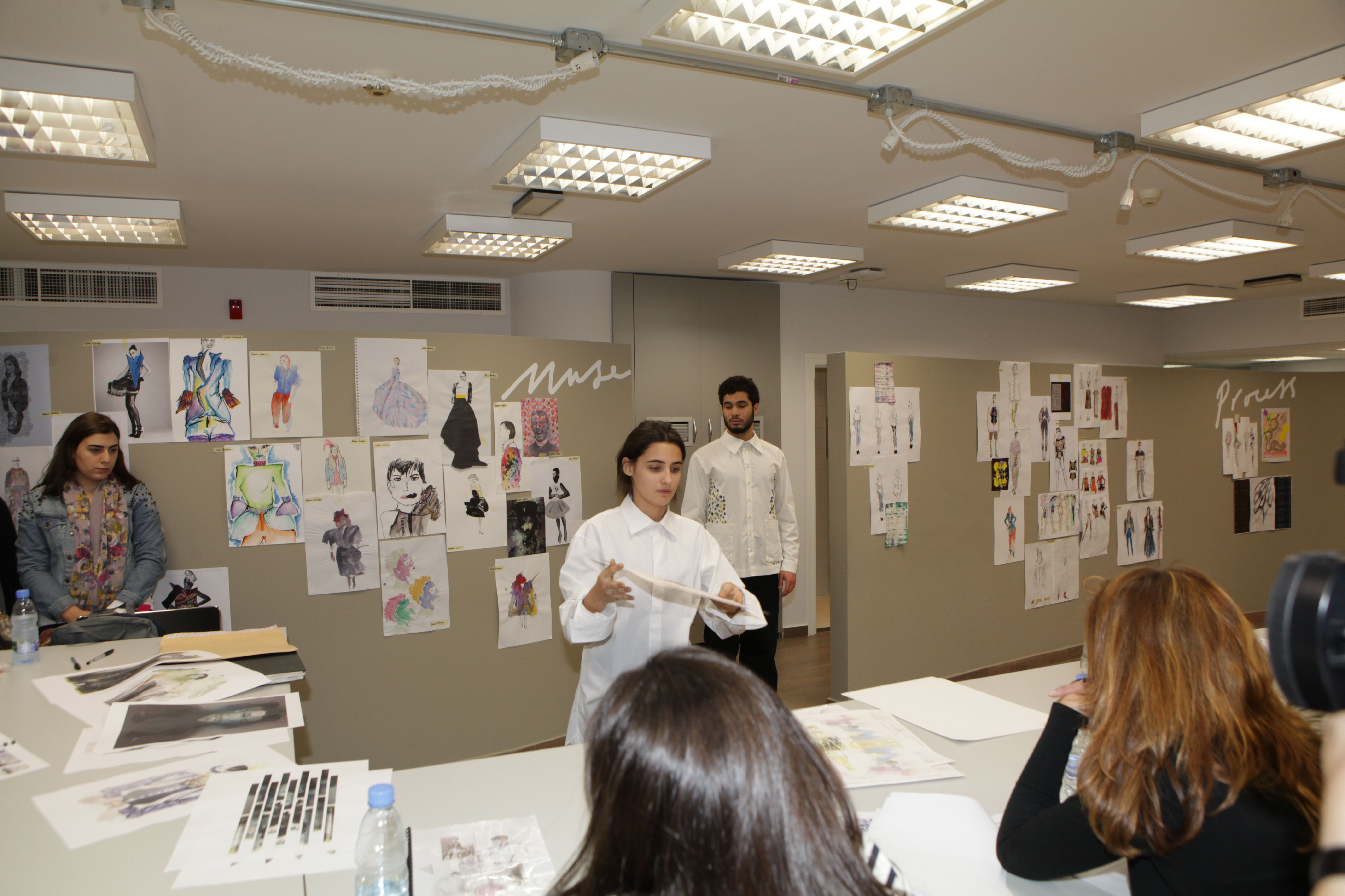 Fashion Design Student Presenting Her Work To The Jury Fashion Design Design Student Design