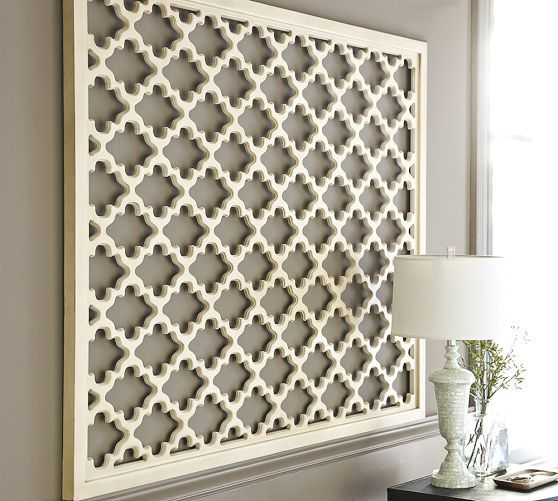 Lattice Panel Wall Art Wooden Decor Wood