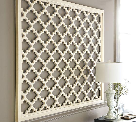 Lattice Panel Wall Art White Wood Wall Decor Wood Panel Wall Decor Wood Wall Decor