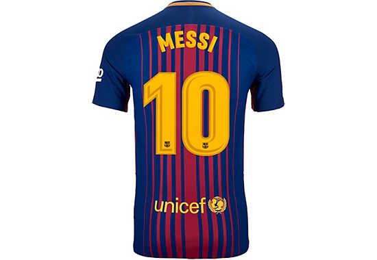 nike lionel messi barcelona match home jersey 2017 18 lionel messi barcelona messi neymar nike lionel messi barcelona match home