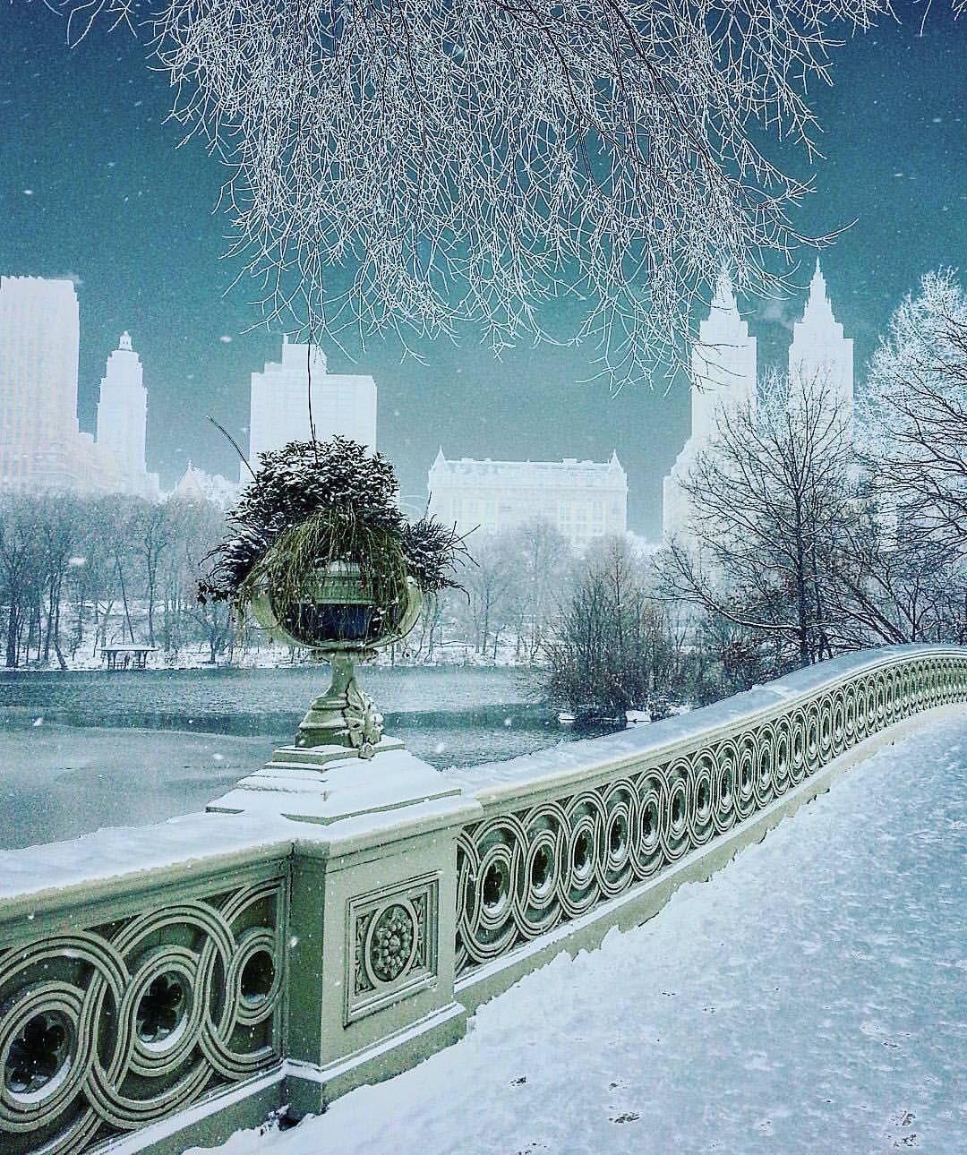 все картинки зимы в городе фонтеса киноиндустрии связана