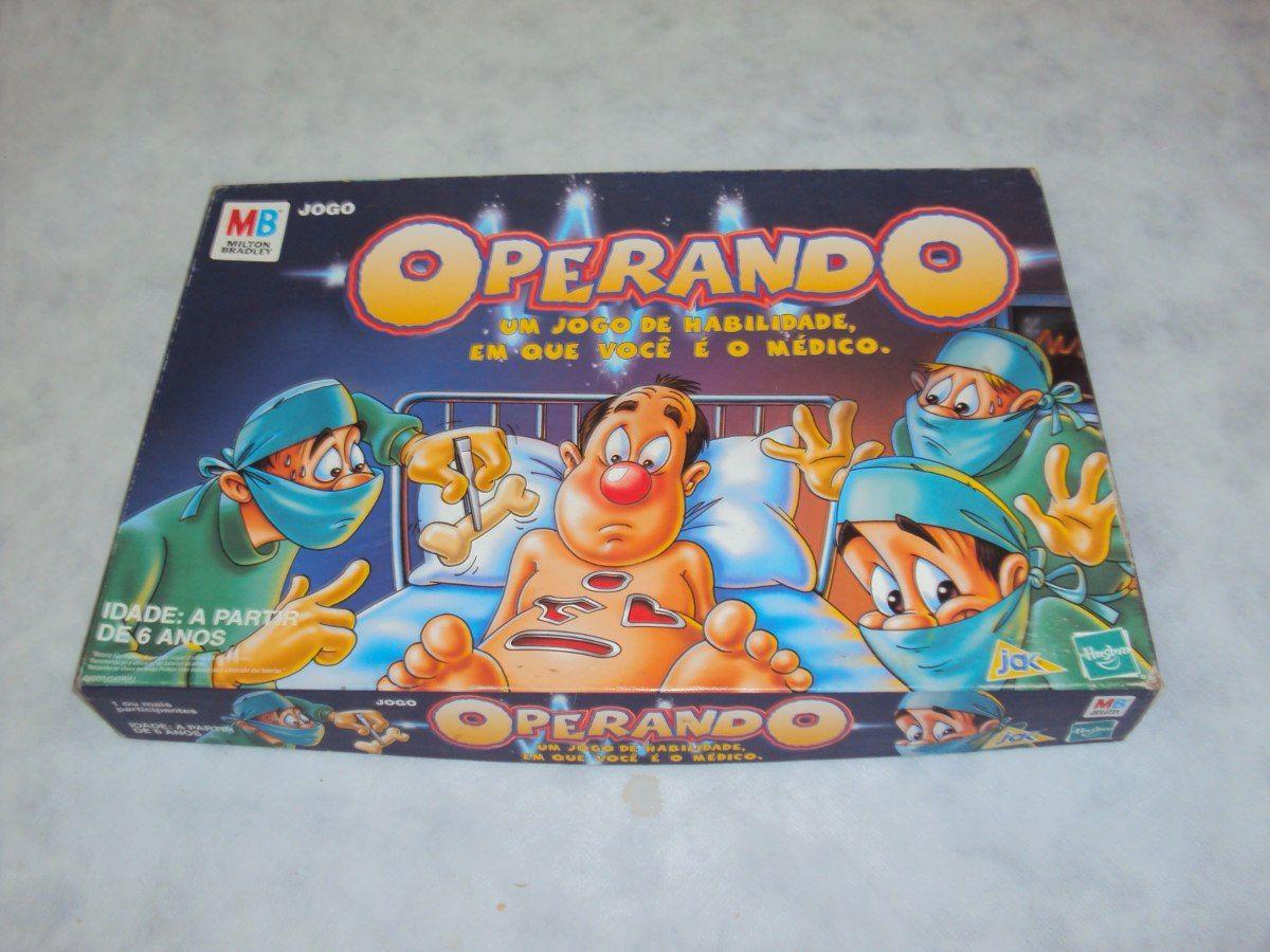 Brinquedo Antigo Jogo Operando Da Hasbro R 70 00 Brinquedos Brinquedos Antigos Jogos