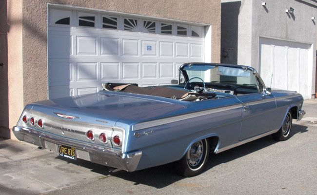 1962 Chevy Impala Ss Looking Great In Silver Clic Convertible Style Design