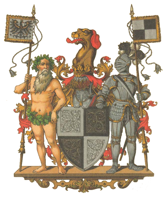 Escudo de la Provincia de Hohenzollern Großes Wappen Preußische Provinzen Hohenzollernsche Lande Coat of Arms of the Prussian Province of Hohenzollern  Hugo Gerard Ströhl (1851-1919)