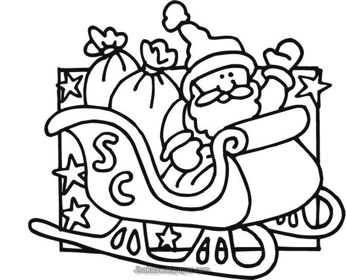 Santa Claus Coloring Page Weihnachtsmalvorlagen