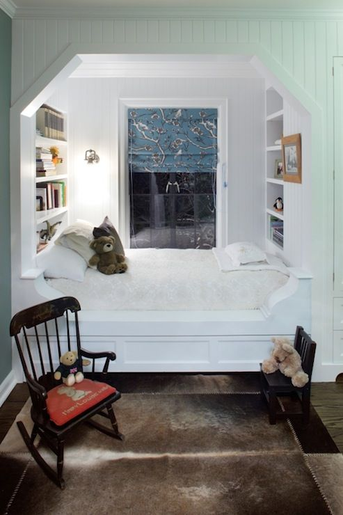 Adorable cozy alcove bed  builtins  P2 Design  room for boys  Alcove bed Built in bed