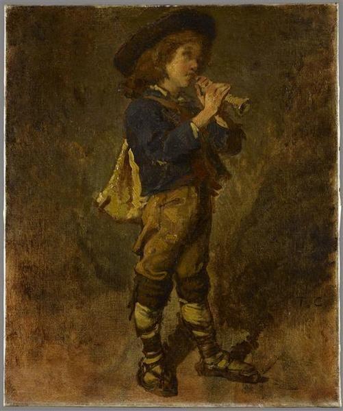 Jeune italien jouant de la flûte- Lille ; musée des beaux-arts