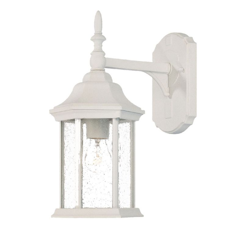 Acclaim Lighting 5188 Craftsman 1 Light 14 Height Outdoor Wall Sconce Outdoor Wall Mounted Lighting Wall Mount Light Fixture White Light Fixture