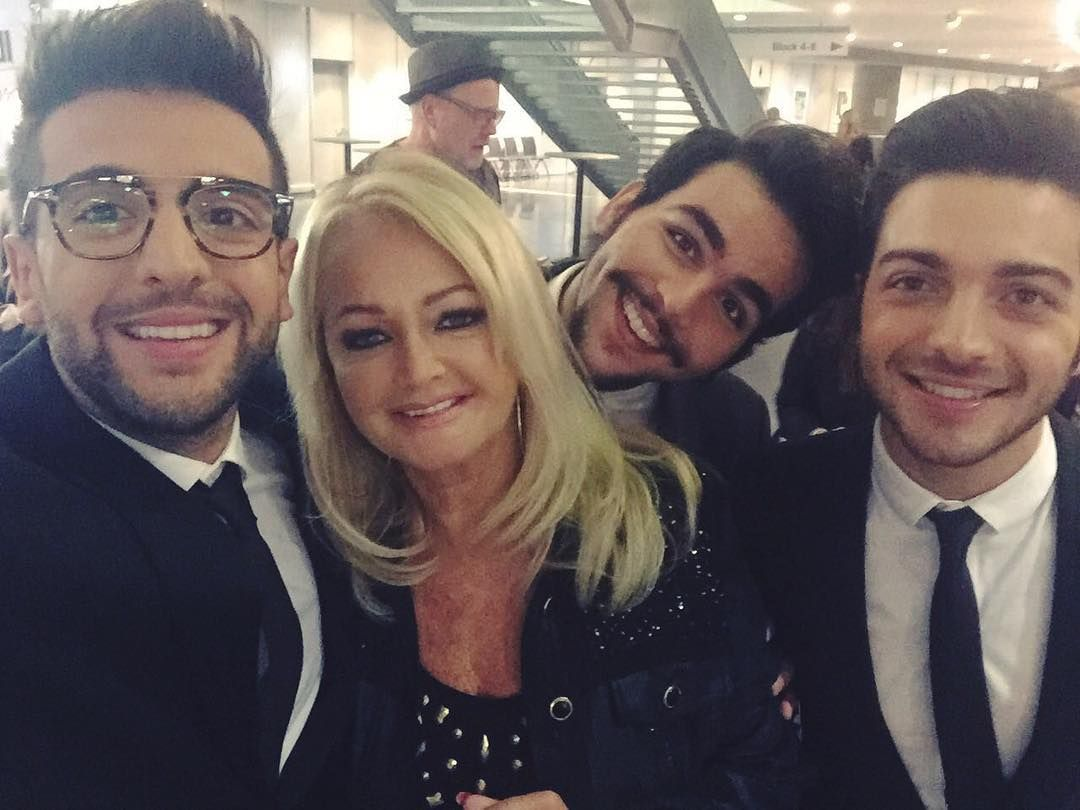 Repost ilvolomusic  Promoting our new album #NotteMagica around the world and during the #CarmenNebel show in Berlin, last Saturday, we've met the great #BonnieTyler!