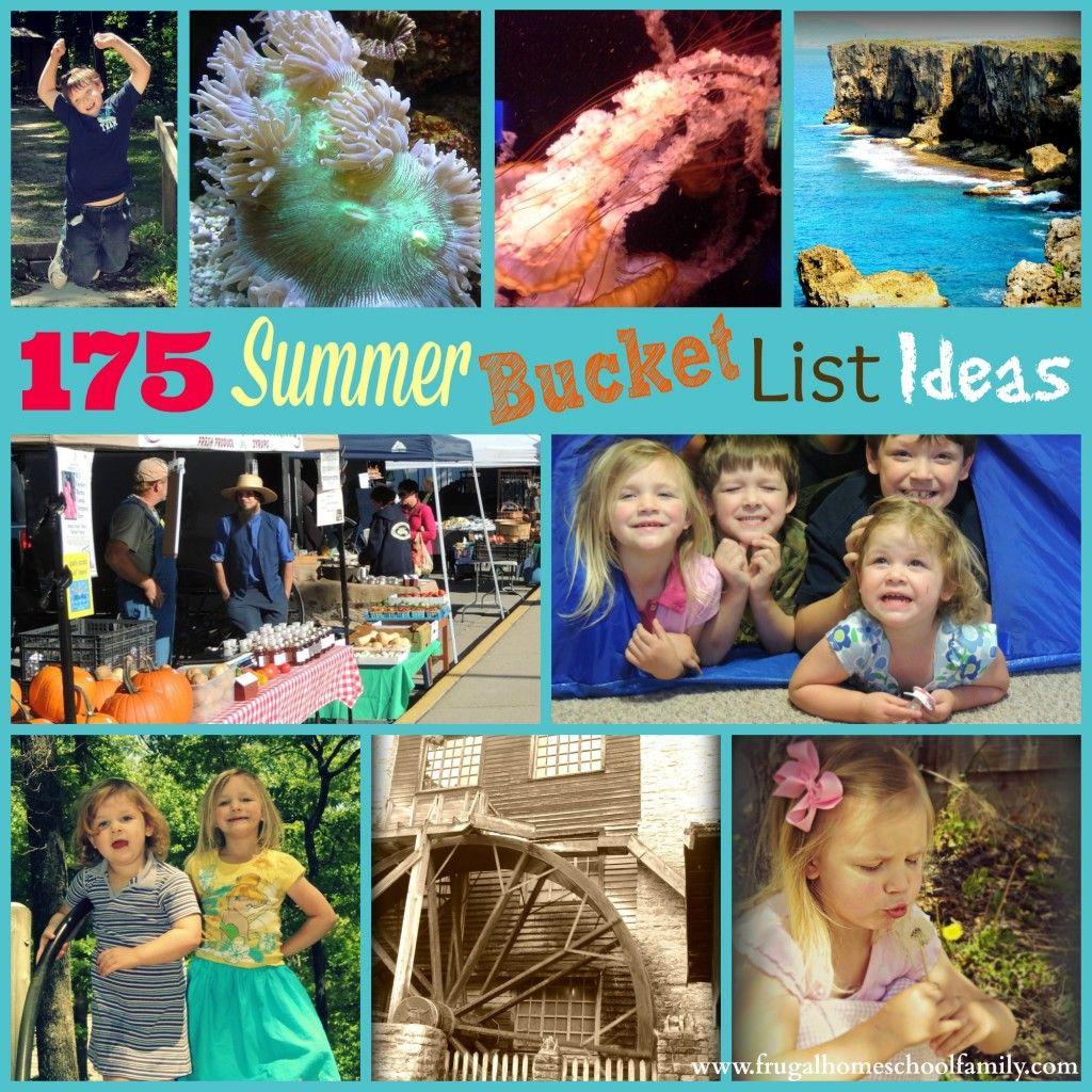 175 Summer Bucket List Ideas Free Printables