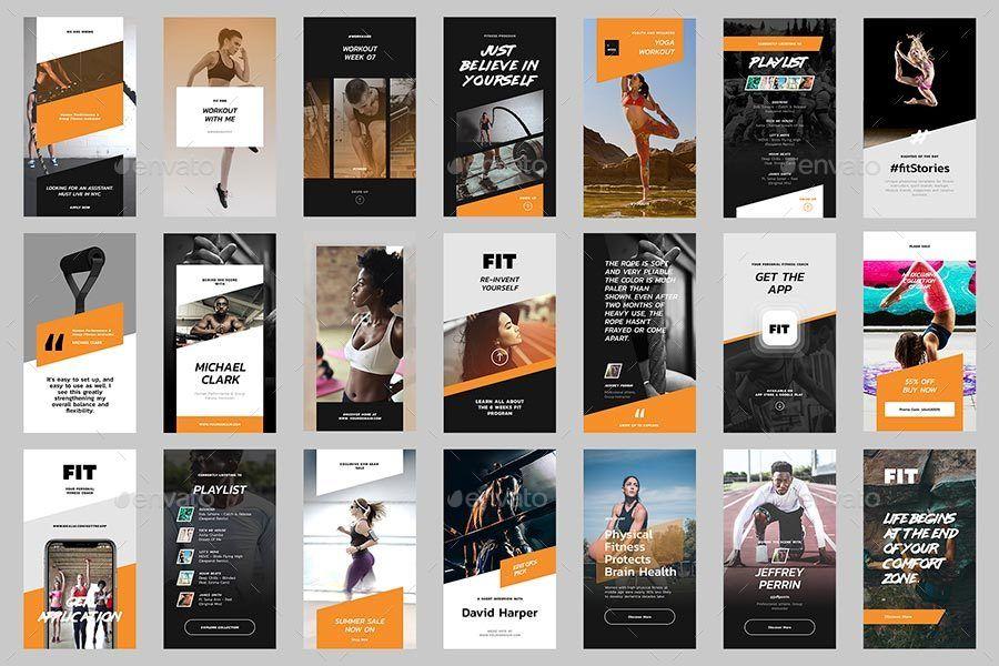 Fit Instagram Story Templates Fitnes Motivaciya Dlya