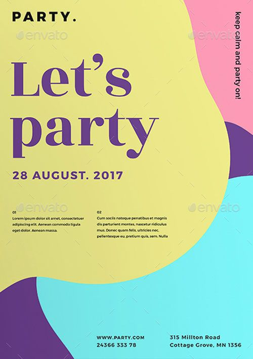 Color Party Flyer Templates -   ffflyer/color-party-flyer