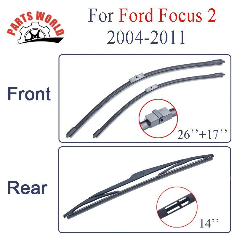 Big Sale Us 12 39 Wiper Blades For Ford Focus 2 2004 2005 2006 2007 2008 2009 2010 2011 Front And Rear Wipers Windscreen Auto Car Accessories Wiper Blade