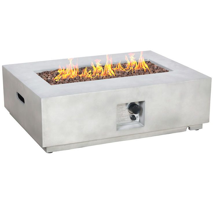 The Rectangular Gas Concrete Fire Pit Is The Perfect Fit For Your Home Decor Needs Visit Your Local At Home Store To Purchase And Fi Fire Pit Video Fire Pit Gallery