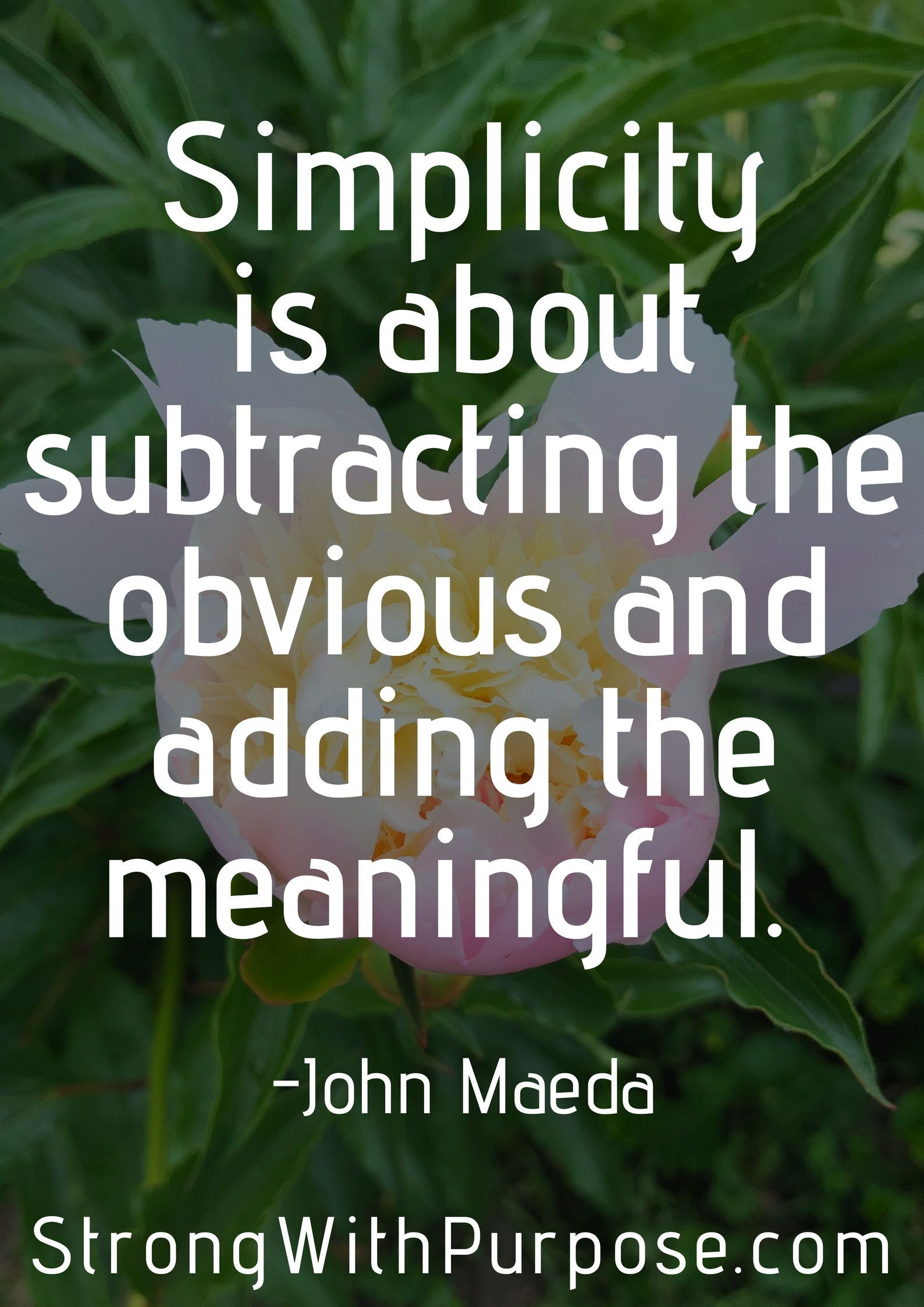 Simplicity Is About Subtracting The Obvious And Adding The Meaningful Read These 5 Inspiring Simplicity Quotes Simplicity Quotes Meaningful Quotes Life Quotes