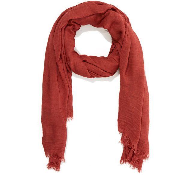 Faliero Sarti Orange Azzurra Scarf ($225) ❤ liked on Polyvore featuring accessories, scarves, shawl scarves, orange scarves, faliero sarti scarves, orange shawl and faliero sarti