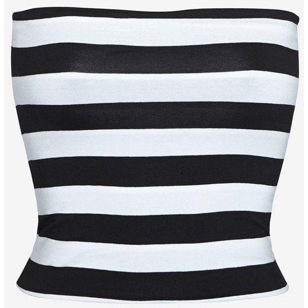 Nadia Tarr Striped Tube Top ($78) via Polyvore