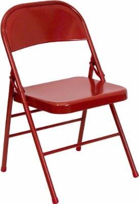 flash furniture series hinged red metal folding chair | top 10