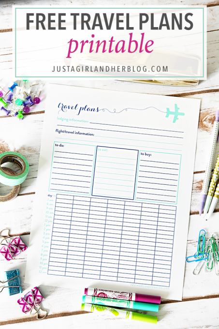 graphic about Vacation Planning Printable identified as Cost-free Push Packages Printable No cost Printables at Only a Female