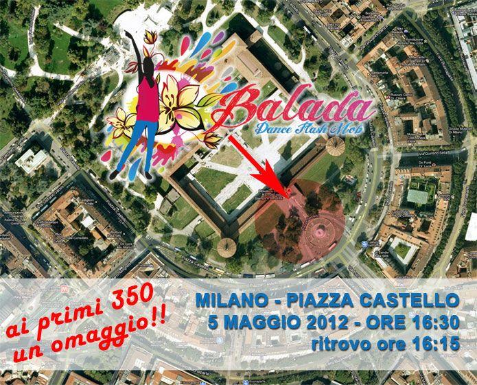 """Il dance flashmob più estivo e colorato """"Balada"""" a Milano"""
