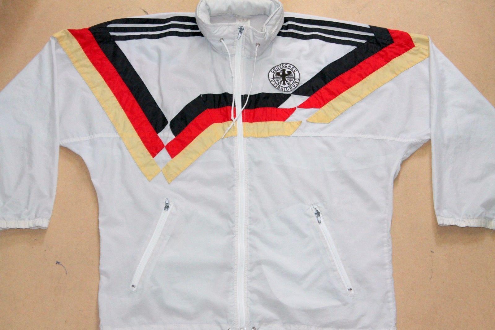 ADIDAS VINTAGE GERMANY W.C.1990 FOOTBALL WINDBREAKER JACKET,RETRO,D5,SIZE :LARGE