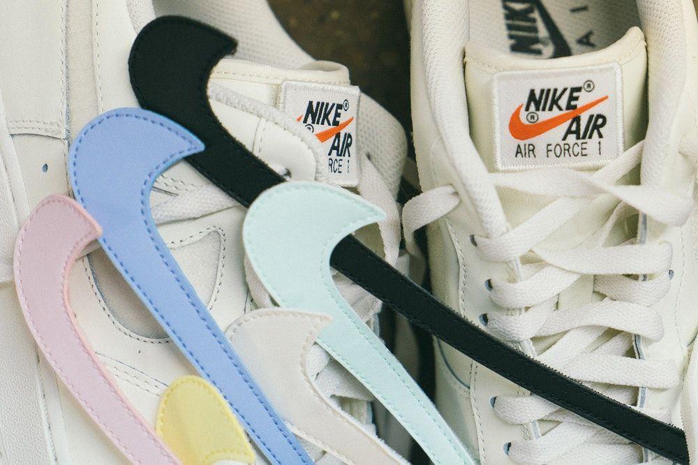 What Nike S Air Force 1 Swoosh Pack Looks Like On Foot Nike Nike Air Force Custom Nike Shoes