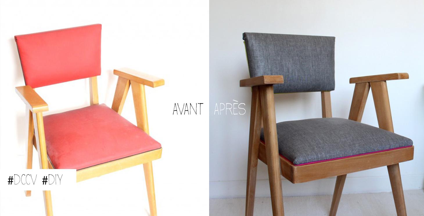 tapisser une chaise fabulous de fauteuil bridge with tapisser une chaise fabulous chaise. Black Bedroom Furniture Sets. Home Design Ideas