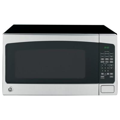Ge 2 0 Cu Ft Countertop Microwave In Stainless Steel Jes2051snss