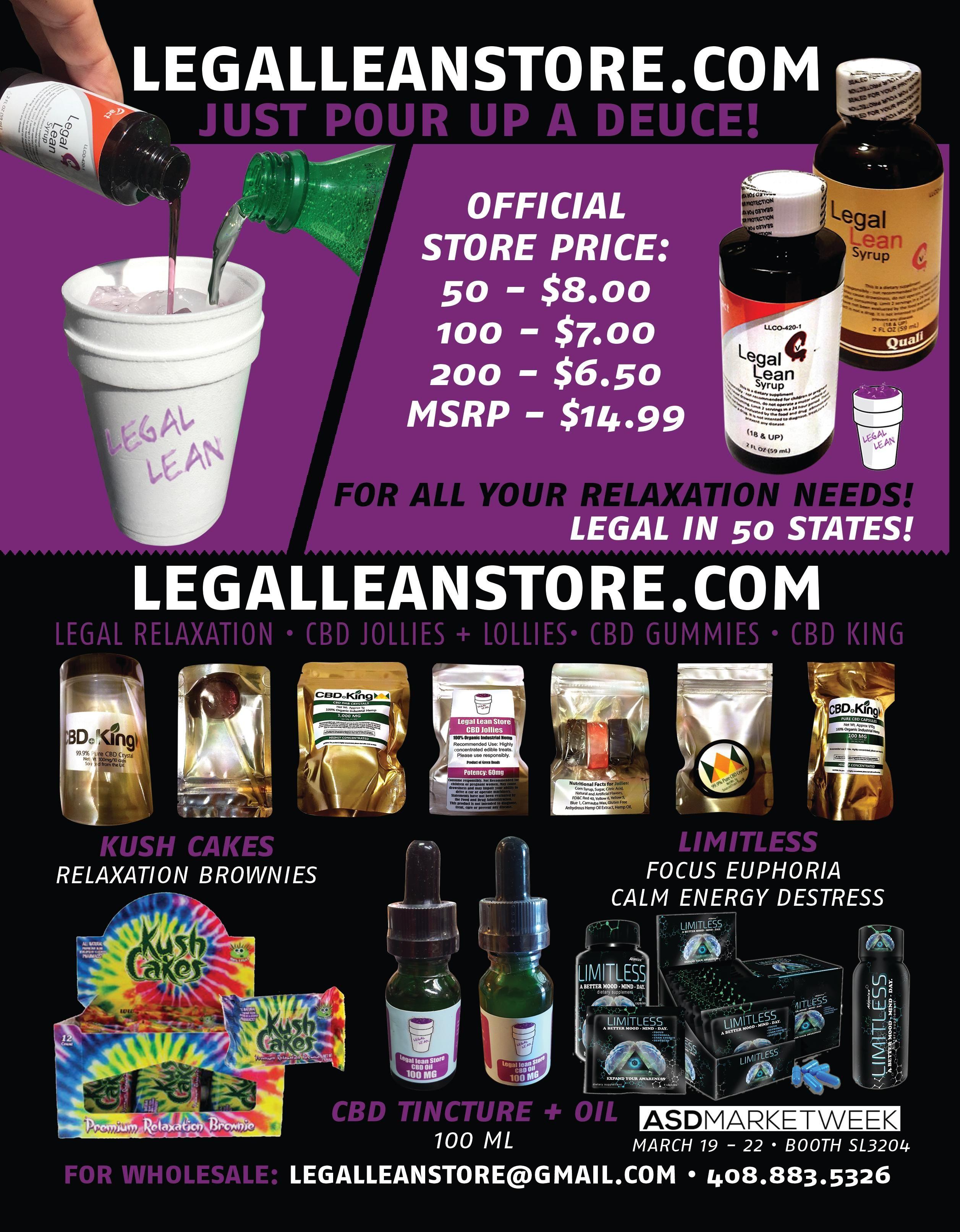 Legal lean wholesale