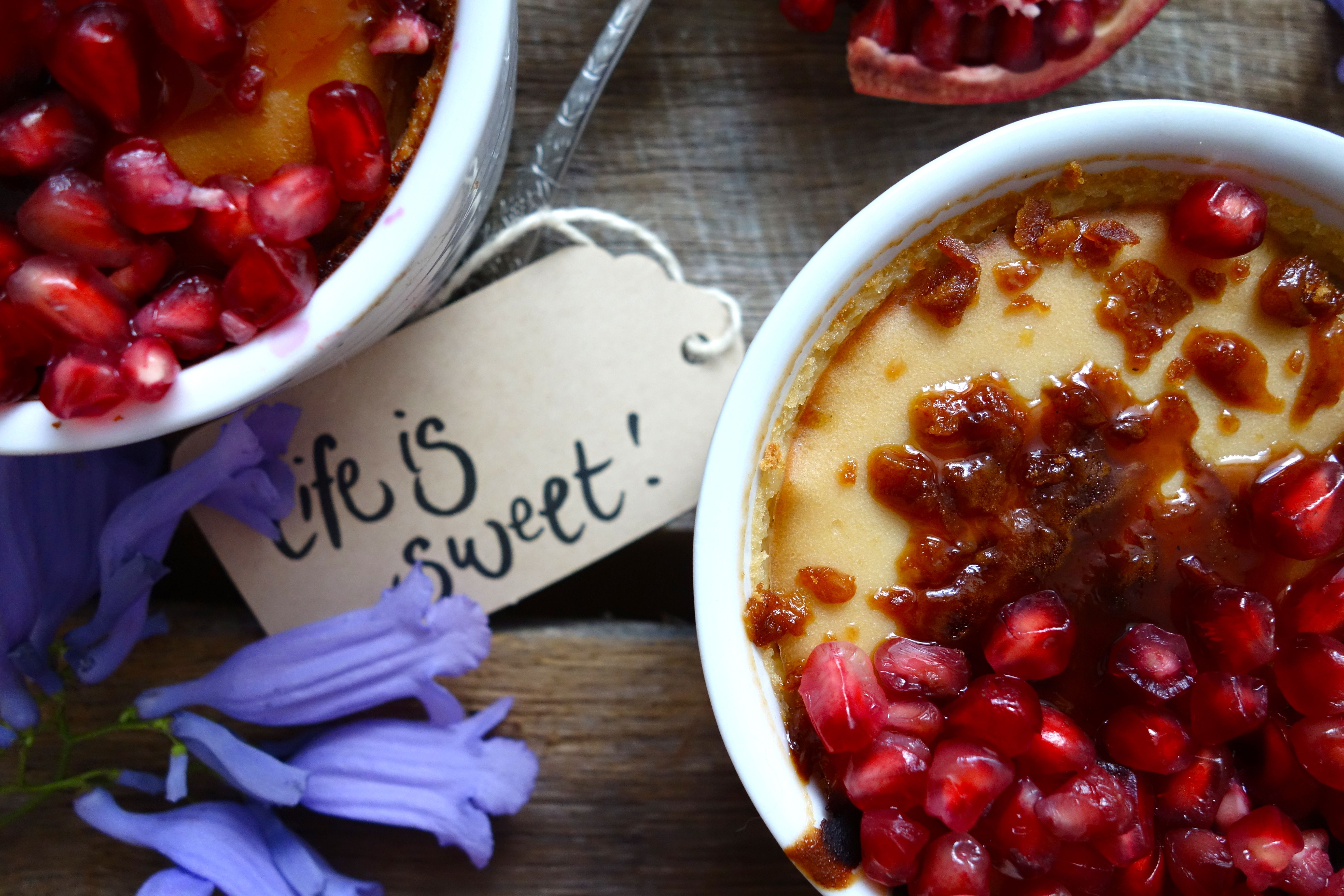 Lemon Creme Brûlée - delicious, elegant and easy (oh and completely gluten and dairy free!) <3 Find the recipe on my blog! #vegan #glutenfree #dairyfree #dessert #cremebrulee #recipe #theaccommodatingchef #healthy #homemade