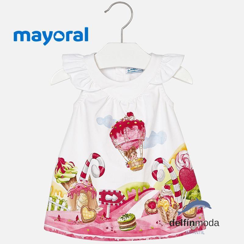 36b41d4c24 Vestido playero de bebe niña MAYORAL sin mangas