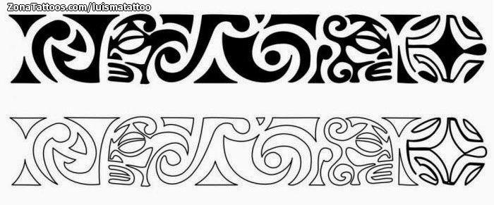 Diseño De Maoríes Brazaletes Tattoos Maori Tattoos Y Arm Band