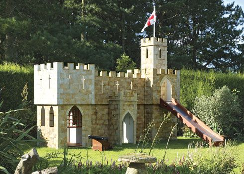 Over The Top Children S Playhouses Playhouses Castle Playhouse