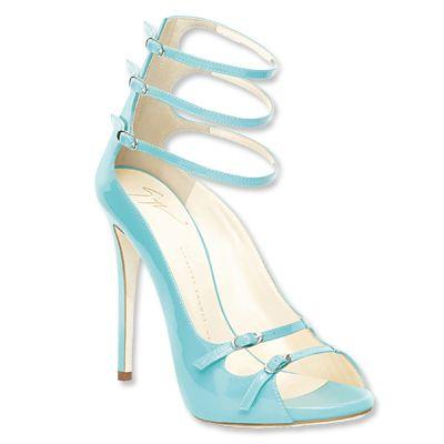 Giuseppe Zanotti Design Turquoise Sandals