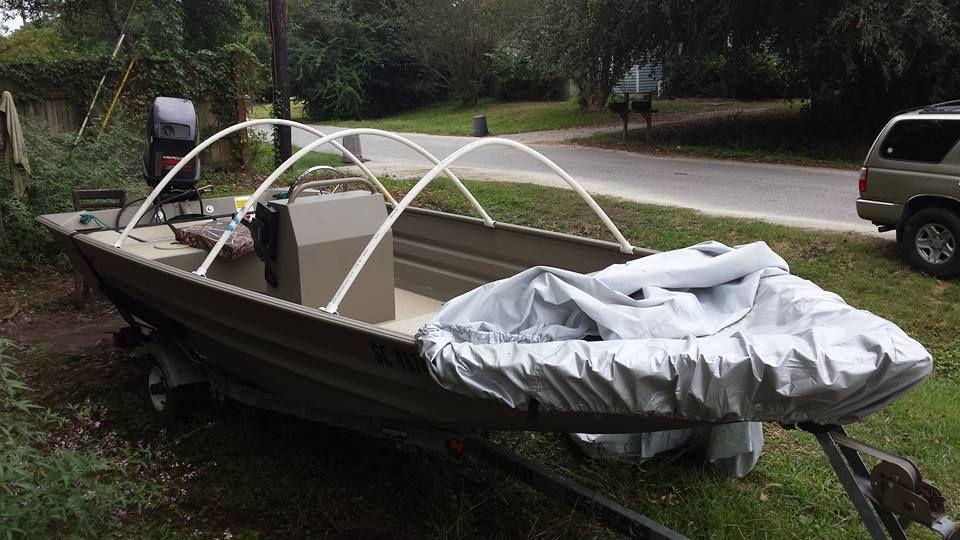 Fourtitude.com - DIY: Boat Cover (or tarp) Support | Boat stuff ...