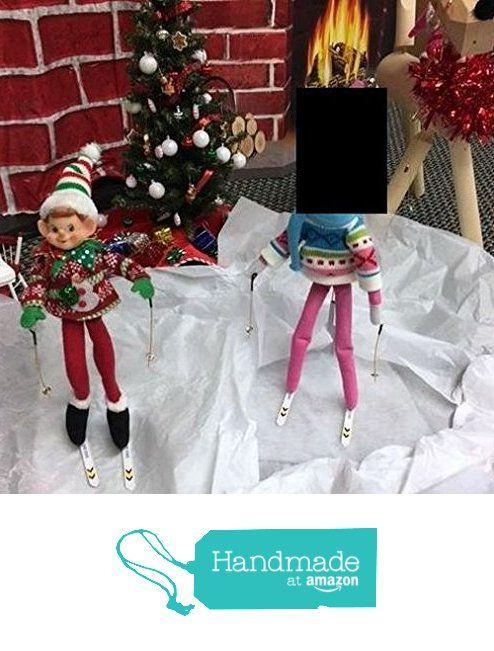 Elf Snow Ski's With Poles. Elf's Mischief. Can use over and over for different day ideas. The possibilities are endless. from Premier Table Covers https://www.amazon.com/dp/B01N0OOS0A/ref=hnd_sw_r_pi_dp_jwhvybCR9ZNAZ #handmadeatamazon