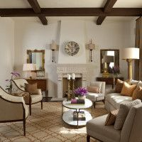 Contemporary Spanish Style Living Room Designed By Cabana Home