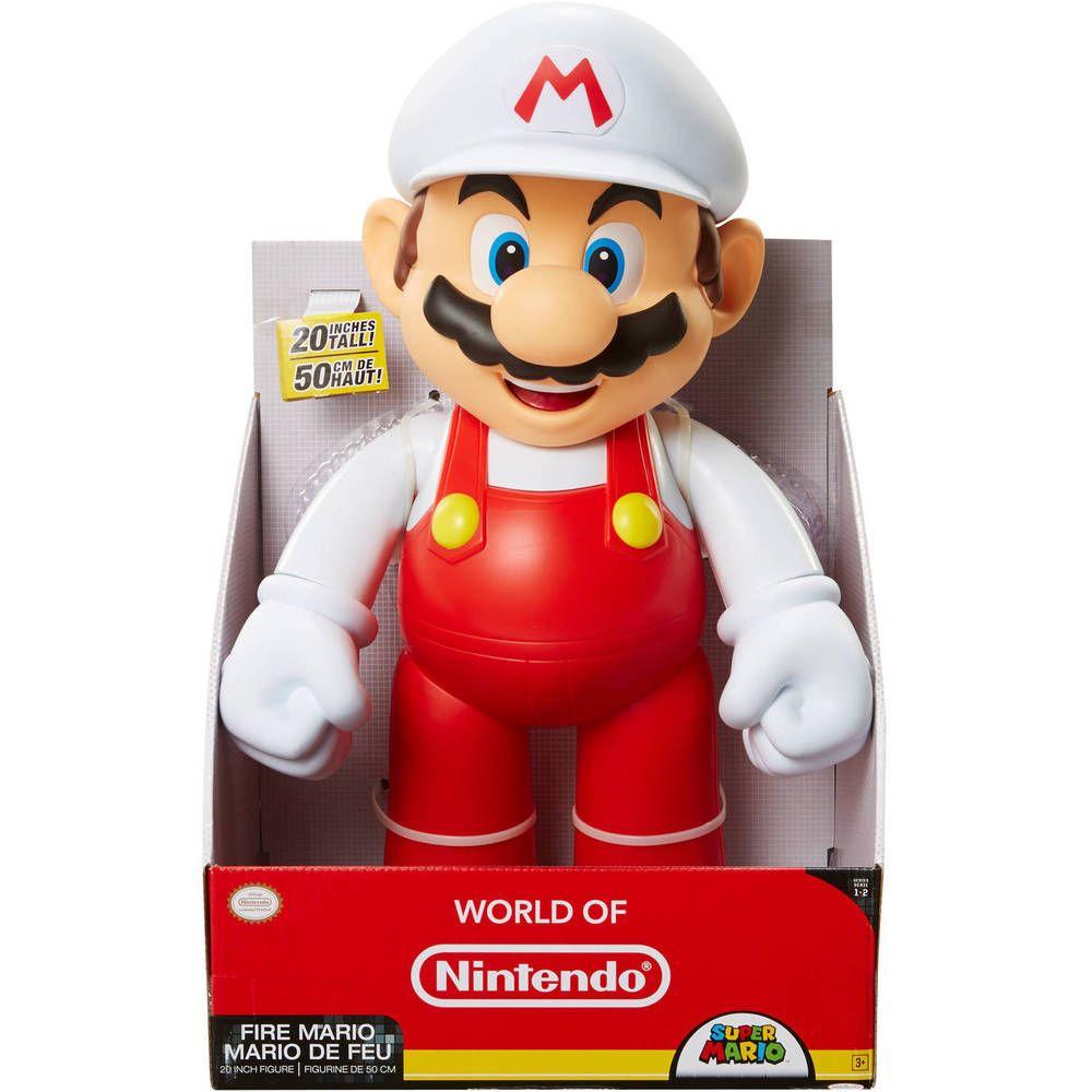 NEW Super Mario Brothers 5 inch Classic Figure Fire Mario NWT