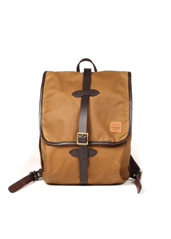 Filson - Tin Cloth Backpack in Tan from Charlie