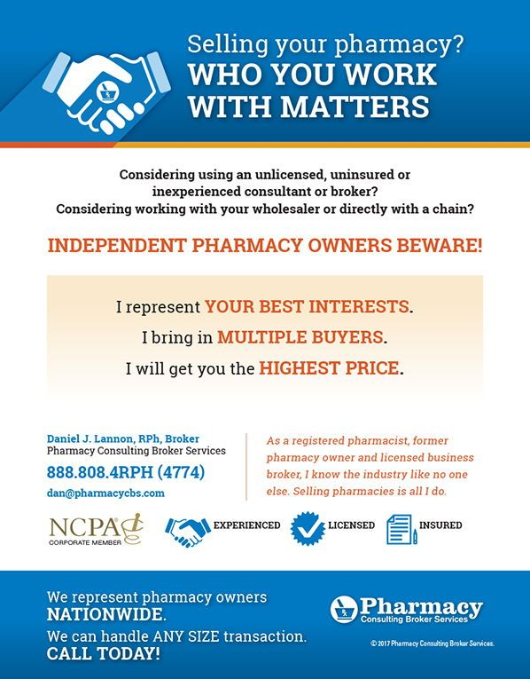 Pharmacy Consulting Broker Services Selling Your Pharmacy As