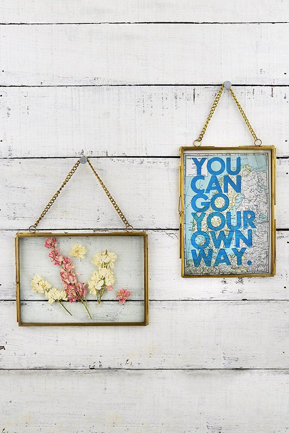 2 Hanging Double Glass Picture Frame 5x7 Inches See This Great