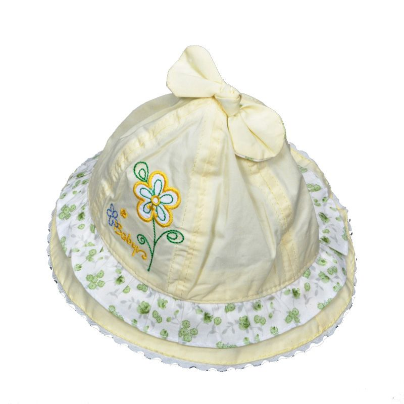 9d5db11662d New 2016 Baby Bucket Hats summer style Toddler Infant Fishing Cap high  quality flower embroidery Baby