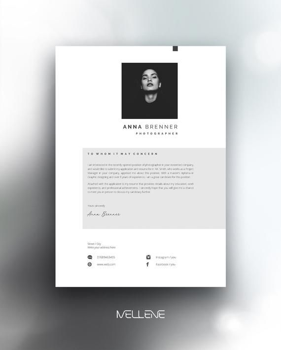 Resume Template 5 page / CV Template + Cover Letter / Instant Download for MS Word / Anna