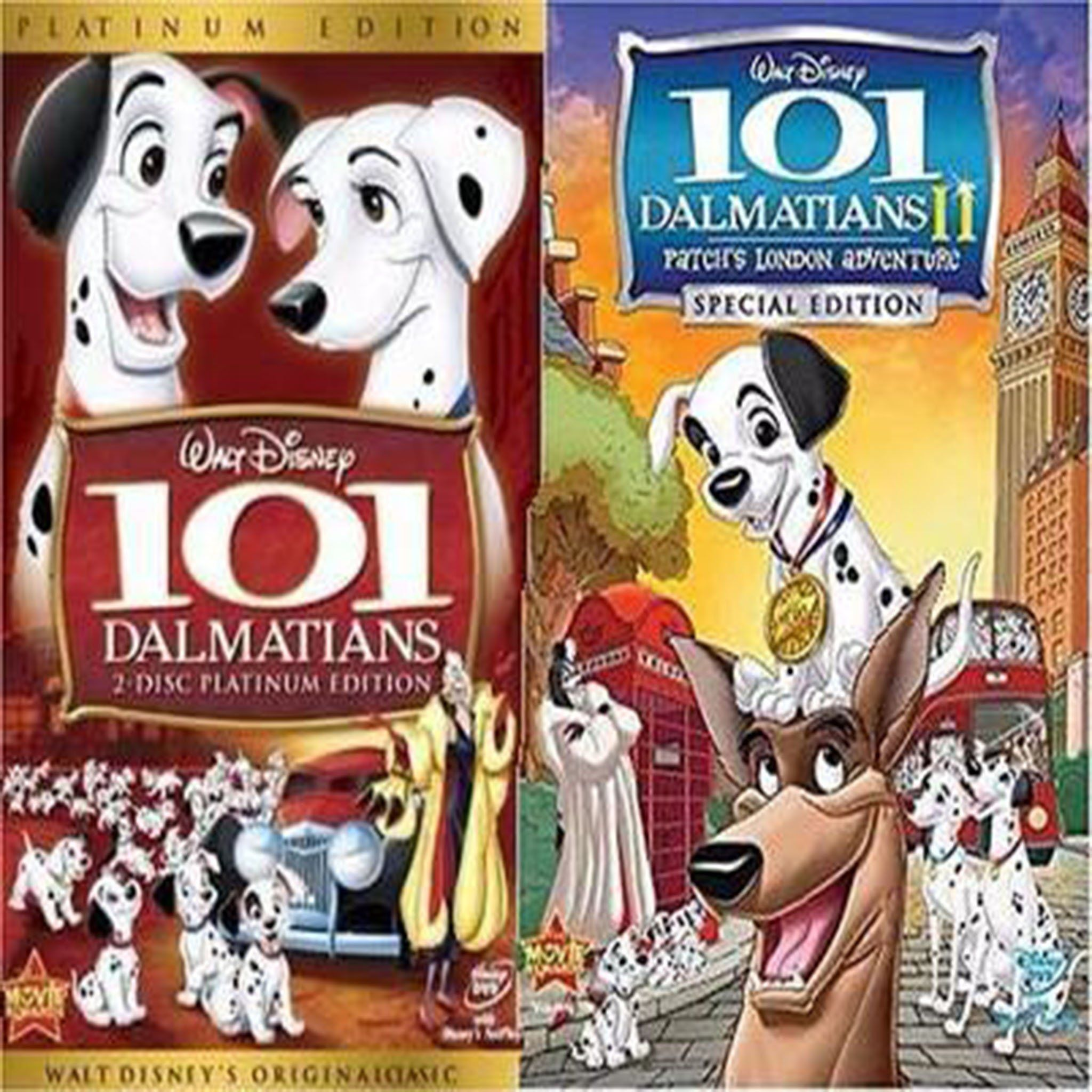 Disney S 101 Dalmatians 1 2 Dvd Set Includes Both Animated Movies