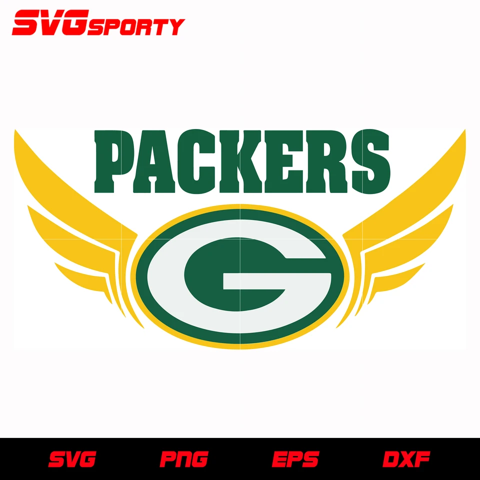 Green Bay Packers Wings Svg Nfl Svg Eps Dxf Png Digital File In 2020 Green Bay Green Bay Packers Logo Cute Poster