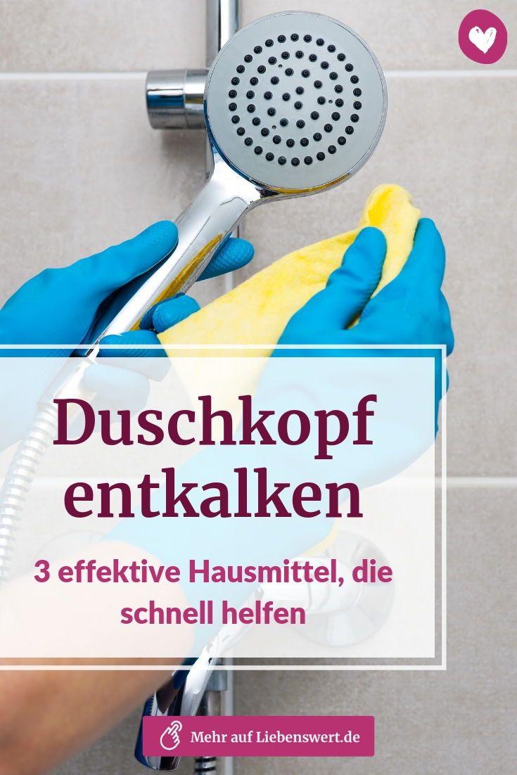 Duschkopf Entkalken 3 Hausmittel Gegen Die Kalk Keine Chance Hat Hausmittel Waschmaschine Entkalken Und Haushalts Tipps